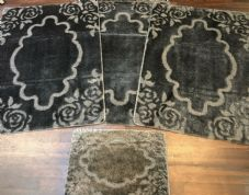 ROMANY GYPSY WASHABLE MATS FULL SETS OF 4 MATS/RUGS X LARGE 100X140CM DARK/GREY
